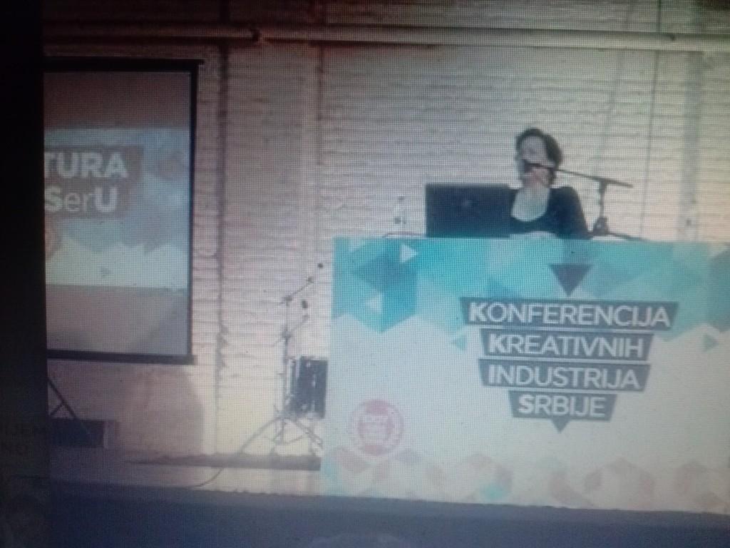 Gostovanje Kori Udovički na Konferenciji kreativnih industrija Srbije, Mikser Beograd.