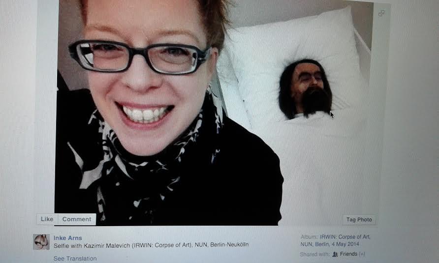 Slika3 Inke Arns Selfie with Kazimir Malevich (Irwin)