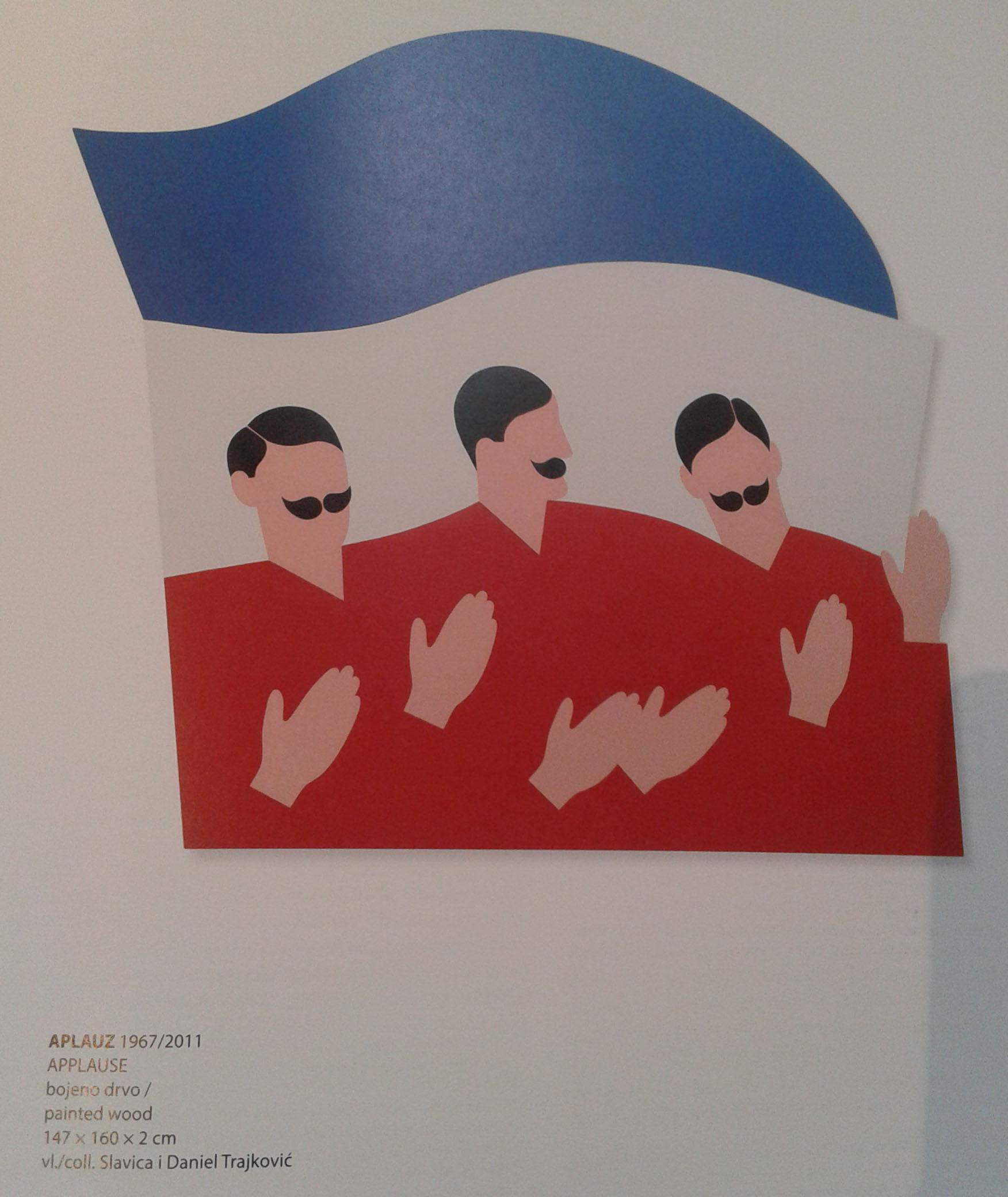 """Iz monografije, Otaševićev rad """"Aplauz"""", vlasništvo Slavice i Daniela Trajković. Foto: DeMaterijalizacija umetnosti"""