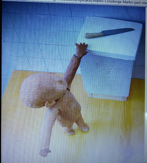 Marko Crnobrnja, Marko, pazi šta radiš, na izložbi Doba nevinosti Age of Inocence, kustoskinja Milice Pekić, Milene Grabačić i Katarine Mitrović, Galerija Zvono, 2004