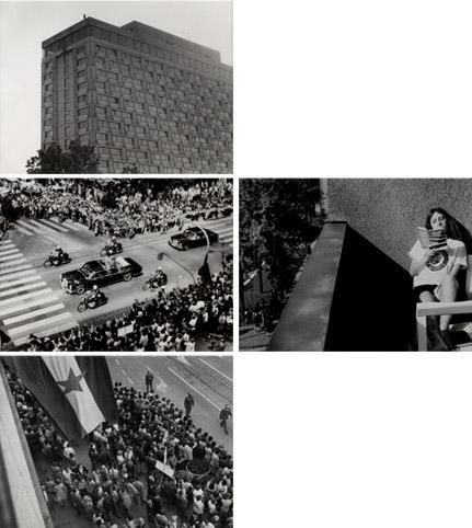 "Rad Sanje Iveković, ""Trokut"", poliptih sastavljen od četiri fotografije i teksta, 1979."