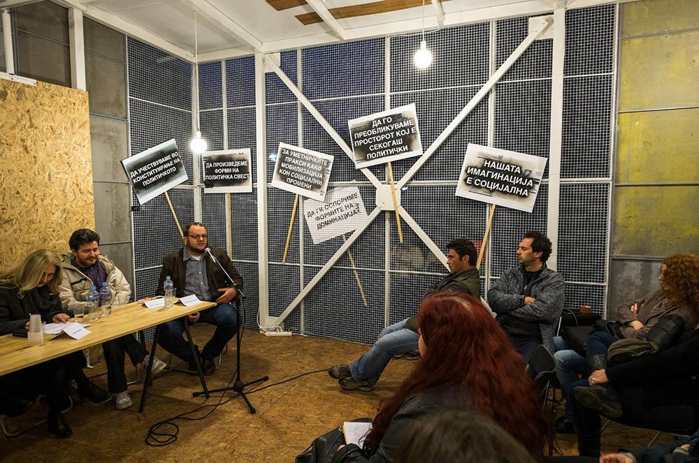 """Debata projekta """"10 minuta protesta"""", Foto: Vanco Džambaski"""