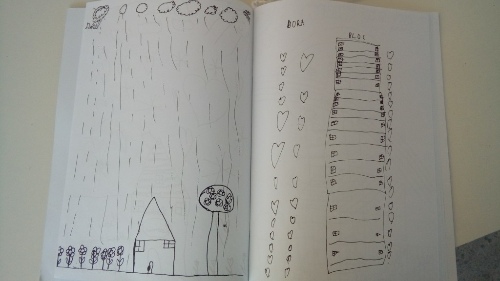 Slika 2. Crteži dece na Bijenalu u Temišvaru. Foto: Nebojša Milikić, 2019.